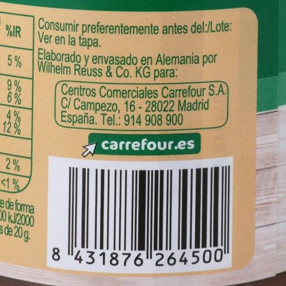 Crema de avellanas con cacao Carrefour 400 g. - 4