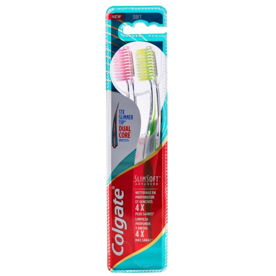 Cepillo dental Slim Soft Colgate 2 ud.