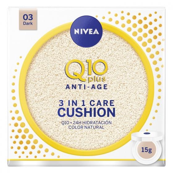 Crema Q10 plus anti edad 3 en 1 Care Cushion 03 Dark Nivea 15 g.