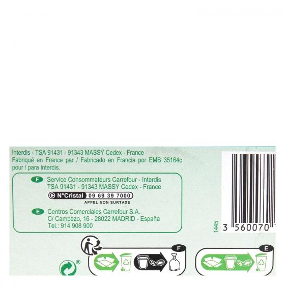 Preparado de soja natural Carrefour pack de 6 unidades de 100 g. - 1