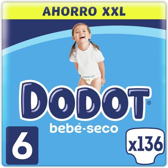 Pañales Dodot T6 (13+ kg) 144 ud.
