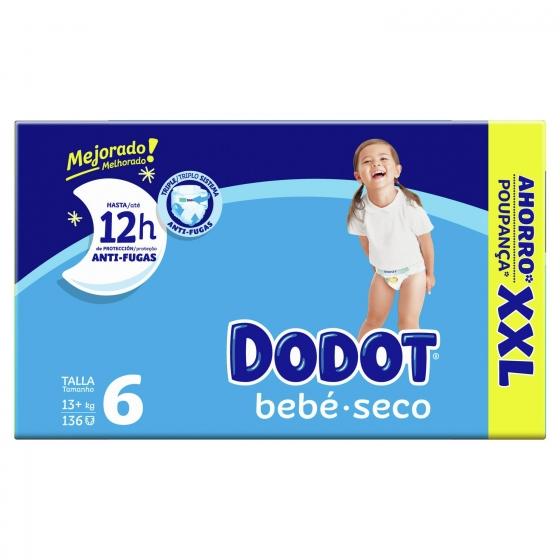 Pañales Dodot T6 (13+ kg) 144 ud. - 1