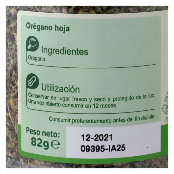 Orégano Carrefour 82 g. - 1
