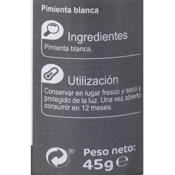 Molinillo pimienta blanca en grano Carrefour 45 g. - 1