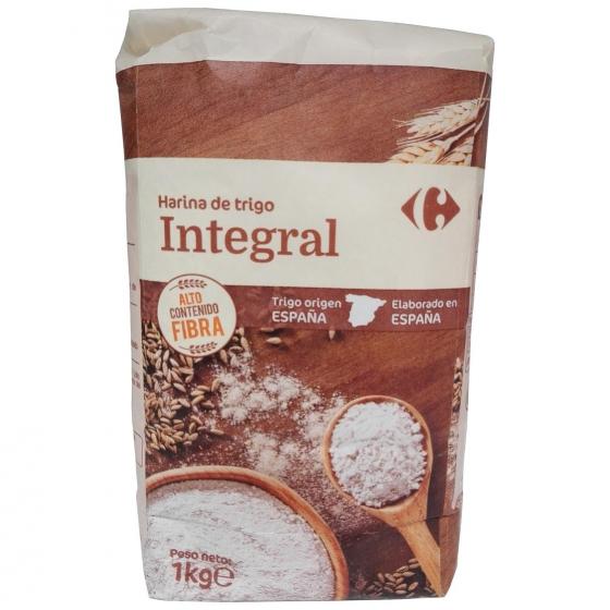 Harina de trigo integral Carrefour 1 kg.