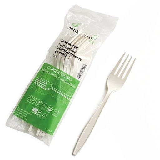 Tenedores Maiz Ecológicos BETIK 6 ud - Beige