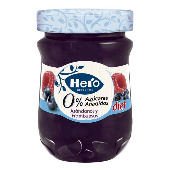 Confitura de arándano y frambuesa Diet Hero 280 g.
