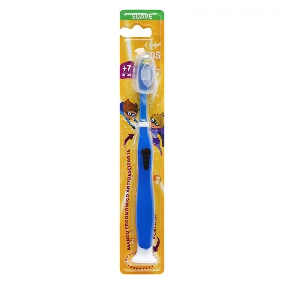 Cepillo dental con ventosa y mango ergonómico antideslizante +7años Carrefour Kids 1 ud.