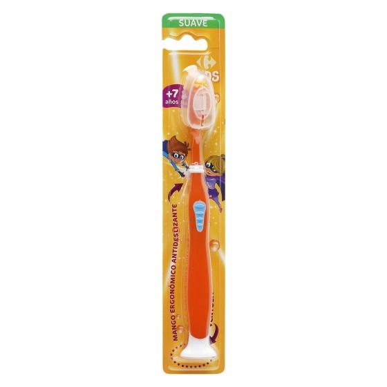 Cepillo dental con ventosa y mango ergonómico antideslizante +7años Carrefour Kids 1 ud. - 1