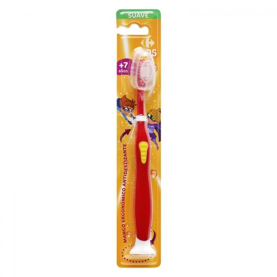 Cepillo dental con ventosa y mango ergonómico antideslizante +7años Carrefour Kids 1 ud. - 3