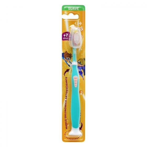 Cepillo dental con ventosa y mango ergonómico antideslizante +7años Carrefour Kids 1 ud. - 4