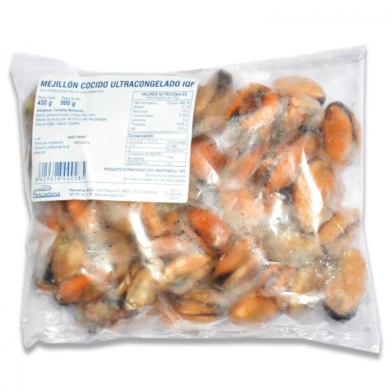 Mejillon cocido ultracongelado 500 g