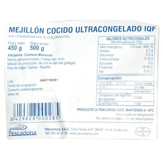 Mejillon cocido ultracongelado 500 g - 3