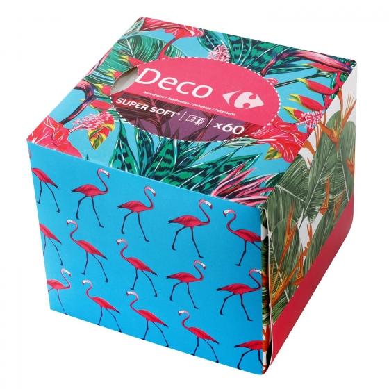 Caja de pañuelos Deco Carrefour 60 ud.