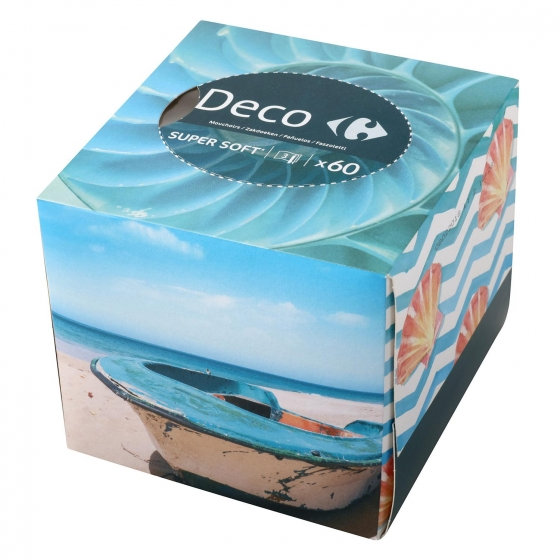 Caja de pañuelos Deco Carrefour 60 ud. - 3
