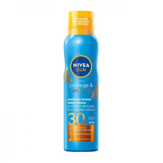 Aceite solar en bruma Protege & Broncea FP 30 Nivea Sun 200 ml.