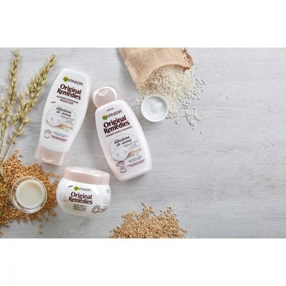 Acondicionador hidratante con crema de arroz y leche de avena Original Remedies 250 ml. - 3