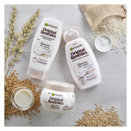 Acondicionador hidratante con crema de arroz y leche de avena Original Remedies 250 ml. - 4