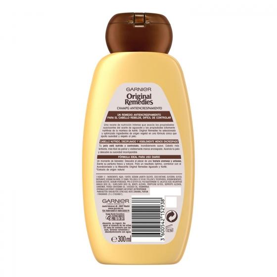 Champú antiencrespamiento con aceite de aguacate Original Remedies 300 ml. - 1