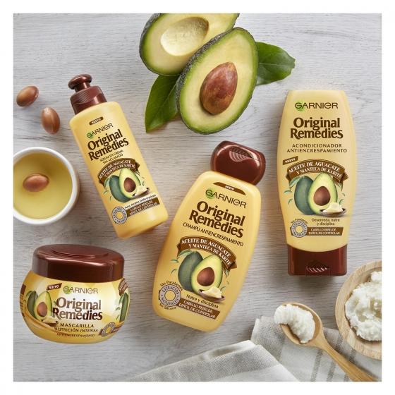 Champú antiencrespamiento con aceite de aguacate Original Remedies 300 ml. - 4