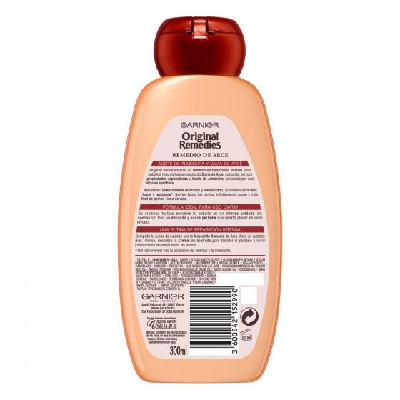 Champú reparación intensa Remedio de arce Original Remedies 300 ml. - 1
