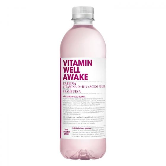 Bebida Isotónica Vitamin Well Awake botella 50 cl.