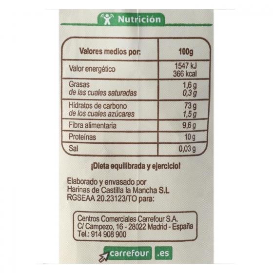 Harina de trigo integral ecológica Carrefour 500 g. - 3