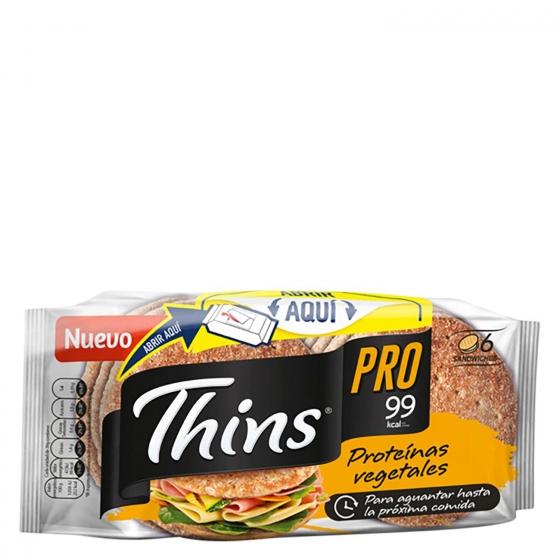 Pan de sandwich thins pro Bimbo Silueta 232 g.