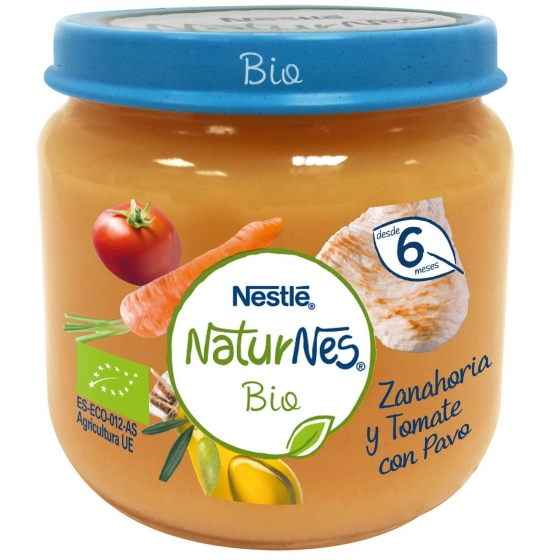 Tarrito de zanahoria y tomate con pavo desde 6 meses sin azúcar añadido ecológico Nestlé Naturnes sin gluten 200 g. - 4