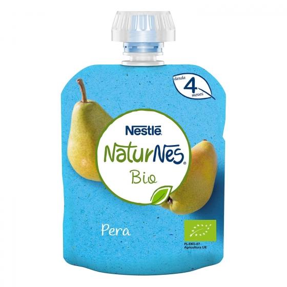 Preparado de pera y plátano desde 4 meses ecológico Nestlé Naturnes sin gluten bolsita de 90 g. - 4