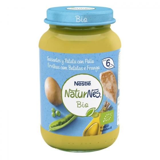 Tarrito de guisantes con patata y pollo desde 6 meses sin azúcar añadido ecológico Nestlé Naturnes sin gluten 200 g. - 3