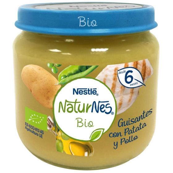 Tarrito de guisantes con patata y pollo desde 6 meses sin azúcar añadido ecológico Nestlé Naturnes sin gluten 200 g. - 4