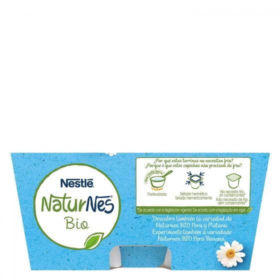 Postre lacteo natural desde 6 meses sin azúcar añadido ecológico Nestlé Naturnes pack de 4 unidades de 90 g. - 3