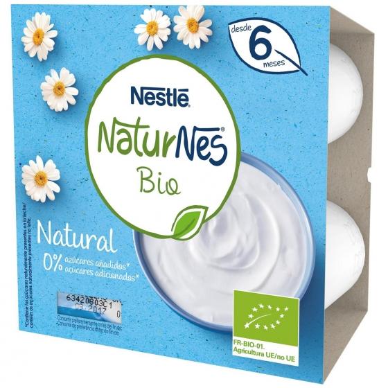 Postre lacteo natural desde 6 meses sin azúcar añadido ecológico Nestlé Naturnes pack de 4 unidades de 90 g. - 4