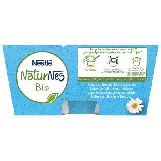 Postre lacteo natural desde 6 meses sin azúcar añadido ecológico Nestlé Naturnes pack de 4 unidades de 90 g. - 5