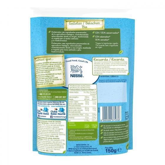 Galletas infantiles desde 8-10 meses con miel ecológicas ecológicas Nestlé Naturnes sin gluten 150 g. - 3