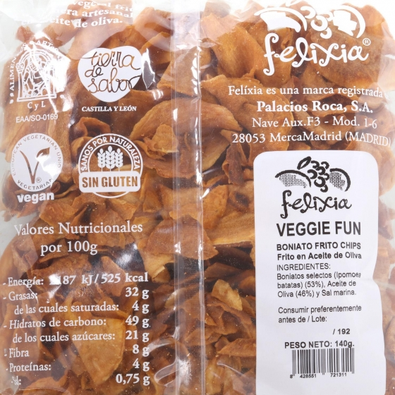 Chips de boniato natural 140 g - 1