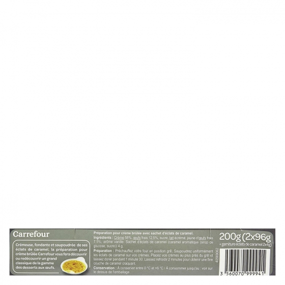 Crema catalana Carrefour pack de 2 unidades de 100g. - 1
