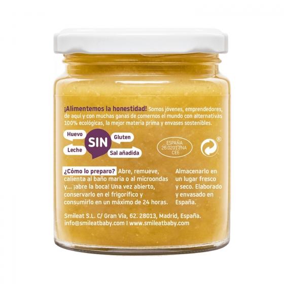 Tarrito de guiso de alubias desde 8 meses ecológico Smileat sin gluten 230 g. - 1