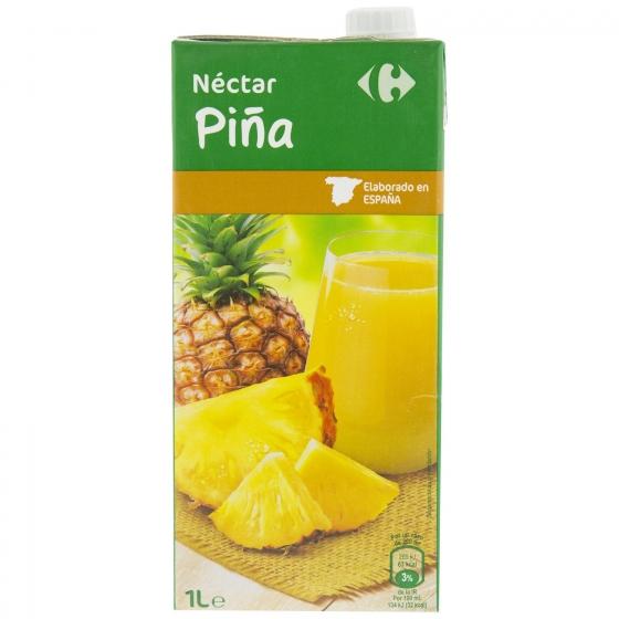Néctar de piña Carrefour brik 1 l. - 1