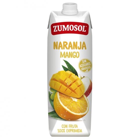 Zumo de naranja y mango Zumosol exprimido brik 1 l.