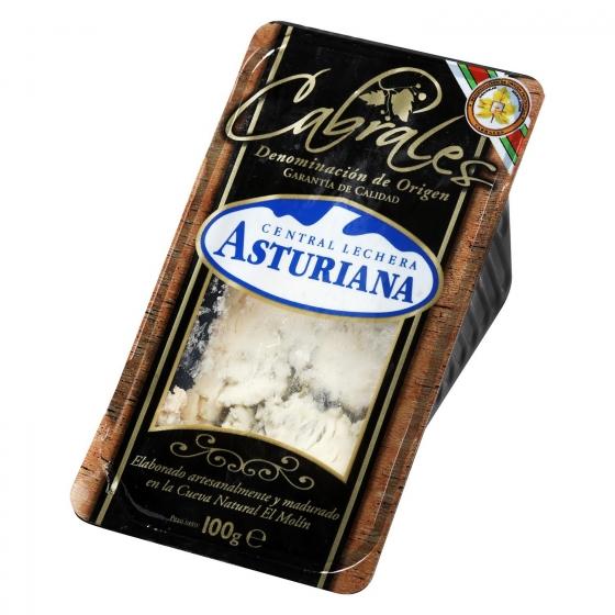 Queso azul cabrales Central Lechera Asturiana cuña 100 g