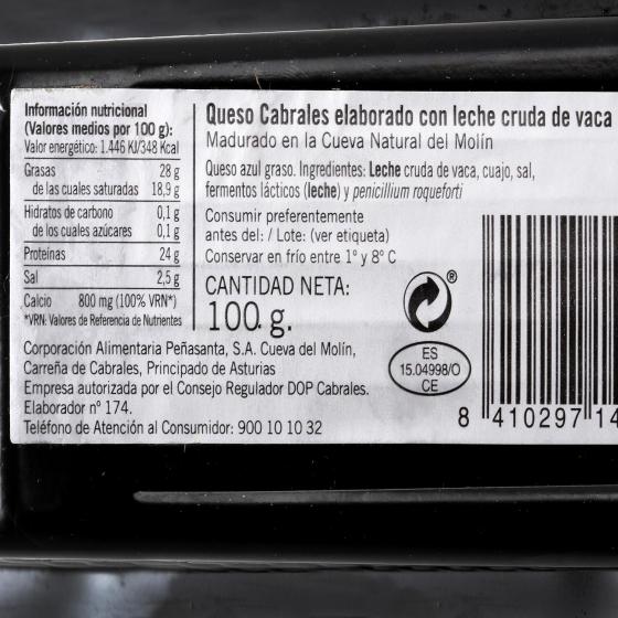 Queso azul cabrales Central Lechera Asturiana cuña 100 g - 3