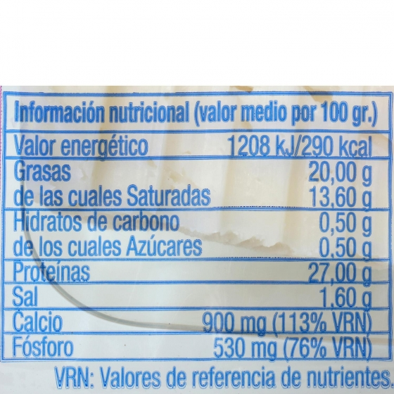 Queso semicurado mezcla ya cortado García Baquero cuña 1/8, 250 g - 1