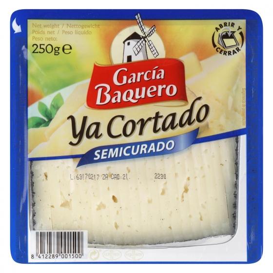 Queso semicurado mezcla ya cortado García Baquero cuña 1/8, 250 g - 3