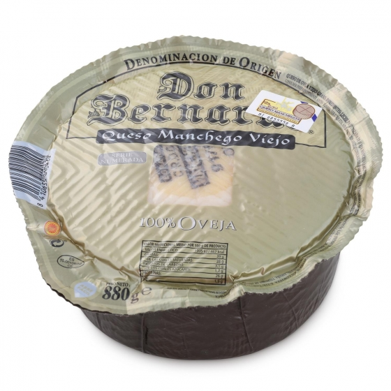 Queso puro de oveja viejo D.O. Manchego mini Don Bernardo Oro pieza 880 g