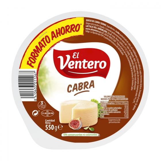 Queso de cabra tierno El Ventero 550 g