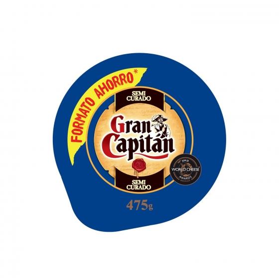 Queso semicurado mezcla Gran Capitán pieza 475 g - 1