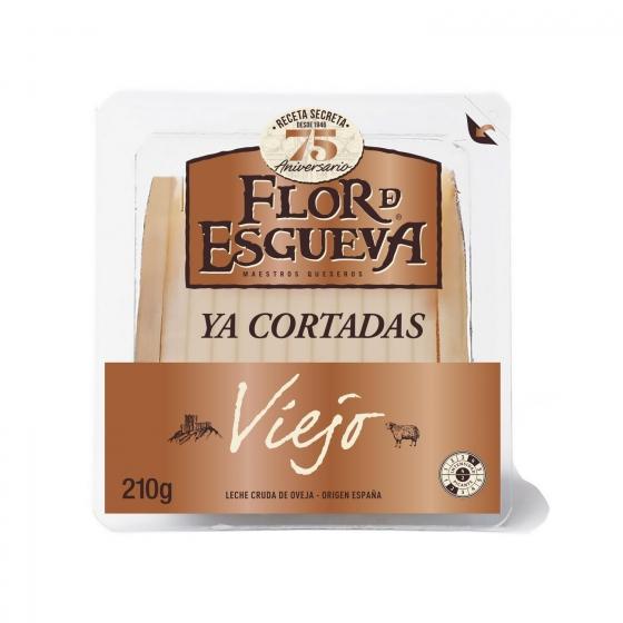 Queso puro de oveja viejo graso Flor de Esgueva tapas maestras ya cortado 210 g - 1