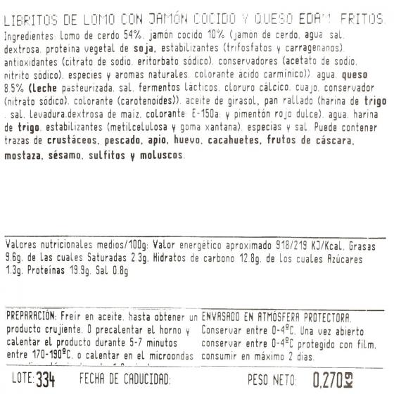 Librito de jamón y queso Bo de Debó 230 g - 4